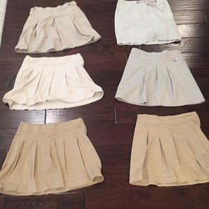 Khaki Uniform Skirts Bundle @ $10